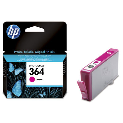 HP 364 Magenta Ink Cart, 3 ml, CB319EE (CB319EE#BA3)