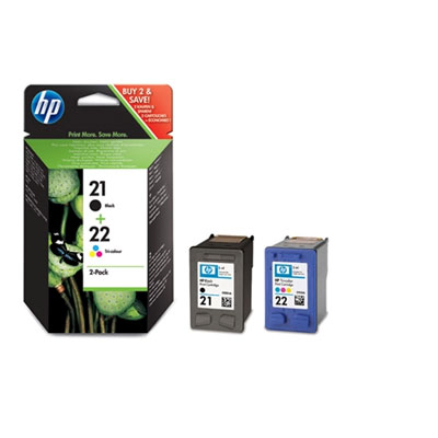 HP 21/22 Combo-B/CMY Ink Cart, 5ml, SD367EE (SD367AE)