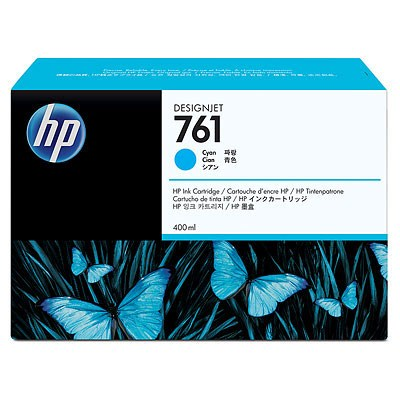 HP 761 Cyan DJ Ink Cart, 400 ml, CM994A