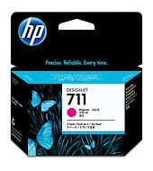 HP 711 Magenta DJ Ink Cart, 29 ml, 3-pack, CZ135A