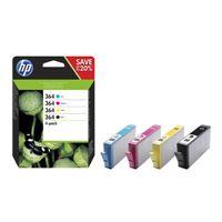 HP 364 CMYK Ink Cartridge Combo 4-Pack, N9J73AE