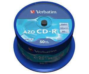 VERBATIM CD-R(50-Pack)Spindle/Crystal/DLP/52x/700MB (43343)