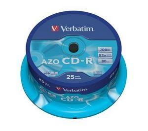 VERBATIM CD-R(25-Pack)Spindle/Crystal/DLP/52x/700MB (43352)