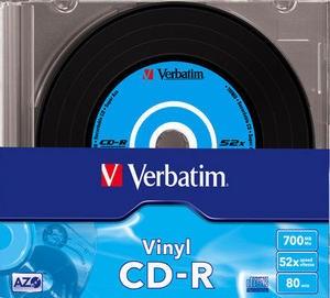 VERBATIM CD-R(10-Pack)Slim/Vinyl/DLP/52x/700MB (43426)
