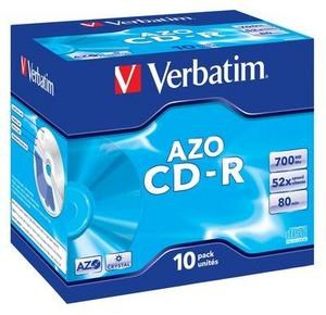 VERBATIM CD-R(10-Pack)Jewel/Crystal/DLP/52x/700MB (43327)