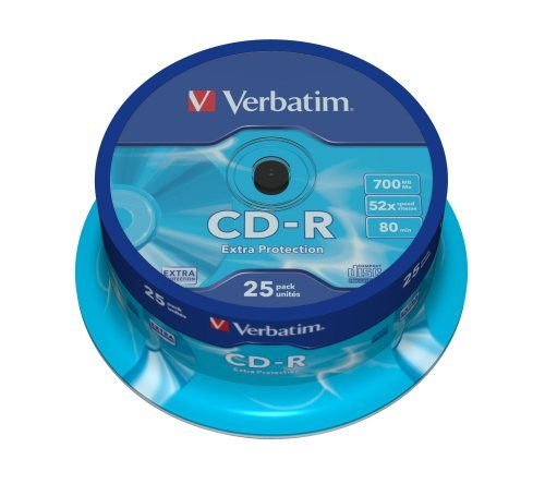 VERBATIM CD-R(25-Pack)Spindle/Extra Protection/DL/52x/700MB (43432)
