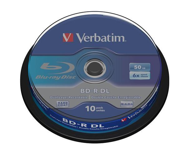 VERBATIM BD-R(10-pack)/DualLayer/spindle/6X/50GB (43746)