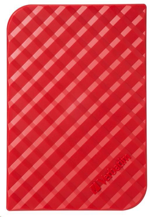 "VERBATIM HDD 2.5"" 1TB Store 'n' Go Portable Hard Drive USB 3.0, Red GEN II (53203)"