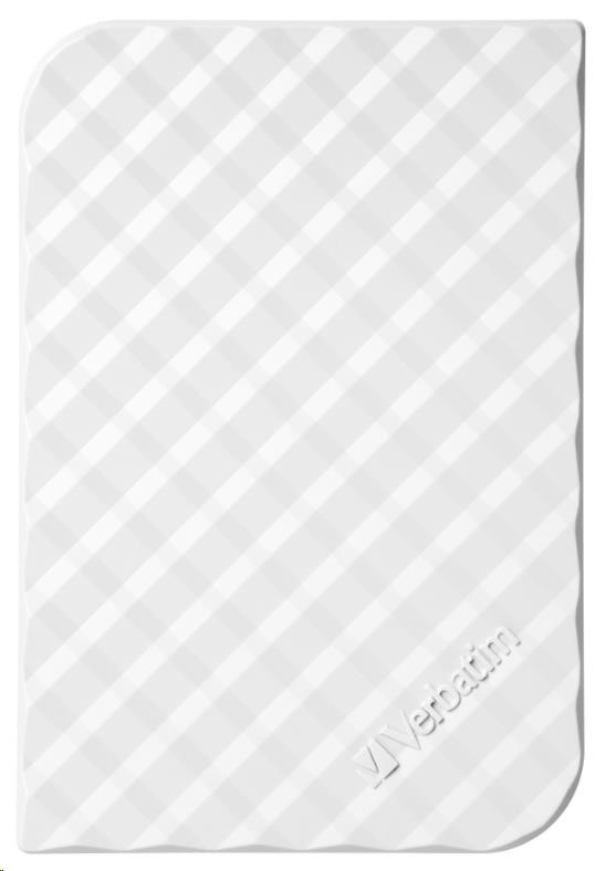 "VERBATIM HDD 2.5"" 1TB Store 'n' Go Portable Hard Drive USB 3.0, White GEN II (53206)"