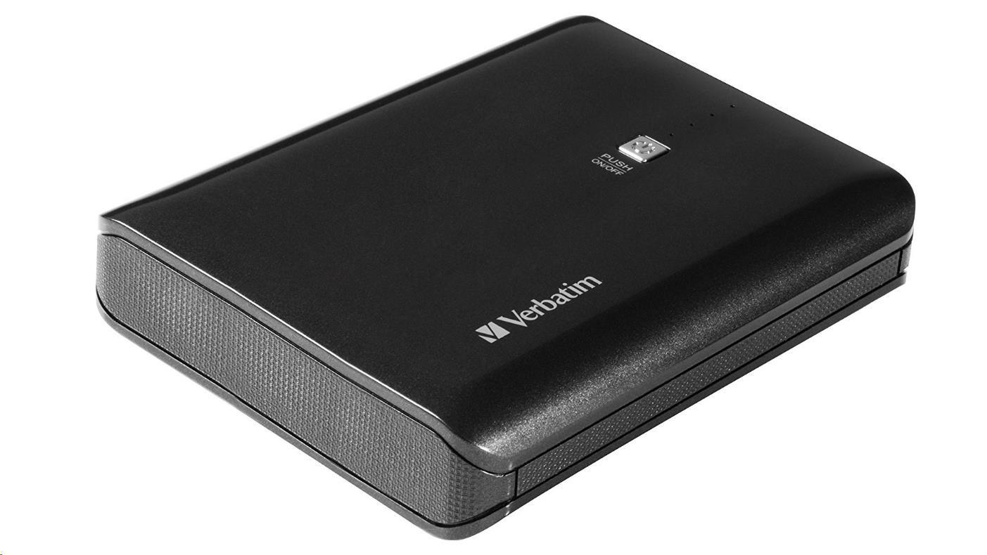 VERBATIM Přenosný ultratenký napájecí zdroj 2x USB / 10400 mAh Power Packs 2,1 A (49952)