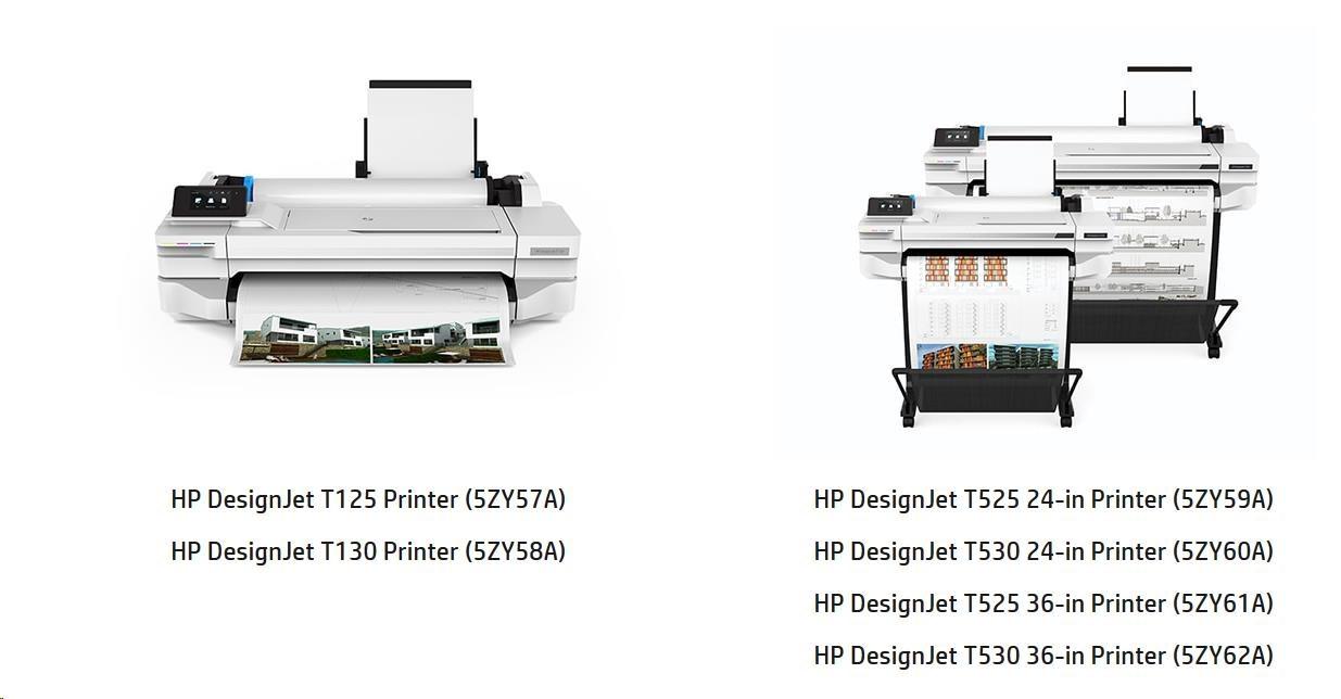 "HP DesignJet T530 36"" (A0+, 27s A1, USB 2.0, Ethernet, Wi-Fi)"