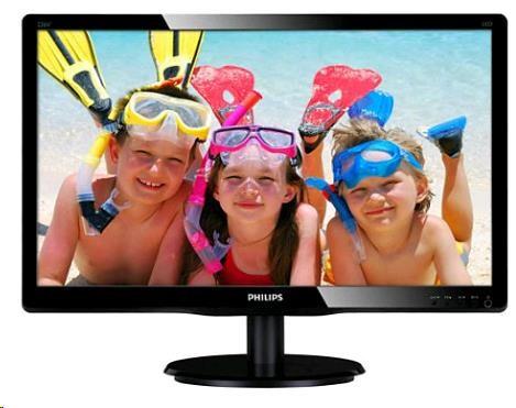 "Philips MT LED 22"" 220V4LSB/00 - 1680x1050, 10M:1, 250cd/m2, 5ms, D-Sub, DVI-D"
