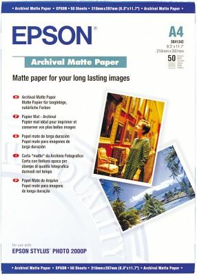 EPSON Paper A4 Archival Matte 50 sheets (C13S041342)