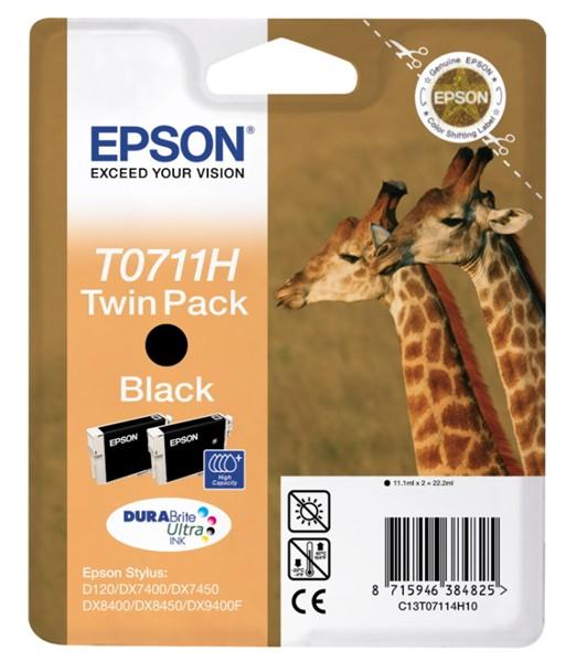 EPSON ink čer Stylus D120 - high capacity double pack (C13T07114H10)