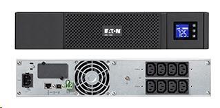 Eaton 5SC 1500i Rack 2U, UPS 1500VA / 1050W, 8 zásuvek IEC, LCD (5SC1500IR)