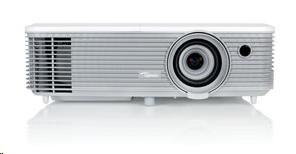 Optoma projektor W354 (FULL 3D, DLP, WXGA, 3 400 ANSI, 18000:1,HDMI, VGA, USB Power, 2W speaker) (95.74G02GC1E)