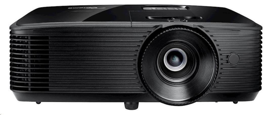 Optoma projektor W334e (DLP, WXGA, 3 700 ANSI, 22 000:1, HDMI, VGA, Audio, USB, RS232, 10W speaker)