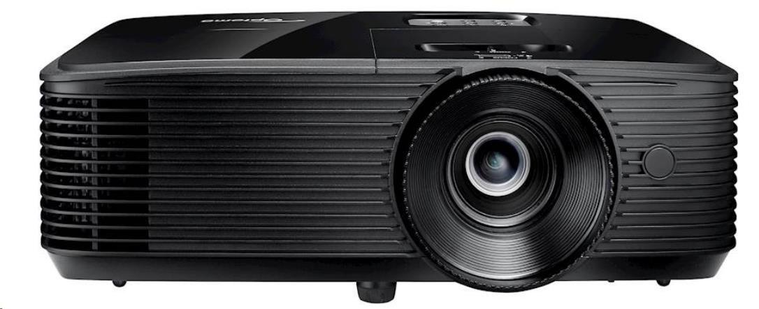 Optoma projektor S343e (DLP, Full 3D, SVGA, 3 800 ANSI, 22 000:1, HDMI, VGA, USB, Audio, RS232, 10W speaker)