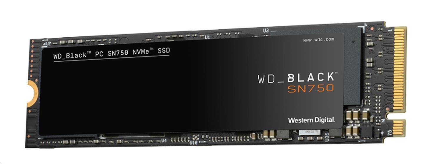 WD BLACK SSD NVMe 1TB PCIe SN750, Gen3 8 Gb/s, (R:3400, W:2900MB/s)