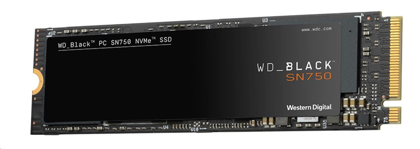 WD BLACK SSD NVMe 250GB PCIe SN750, Gen3 8 Gb/s, (R:3100, W:1600MB/s)