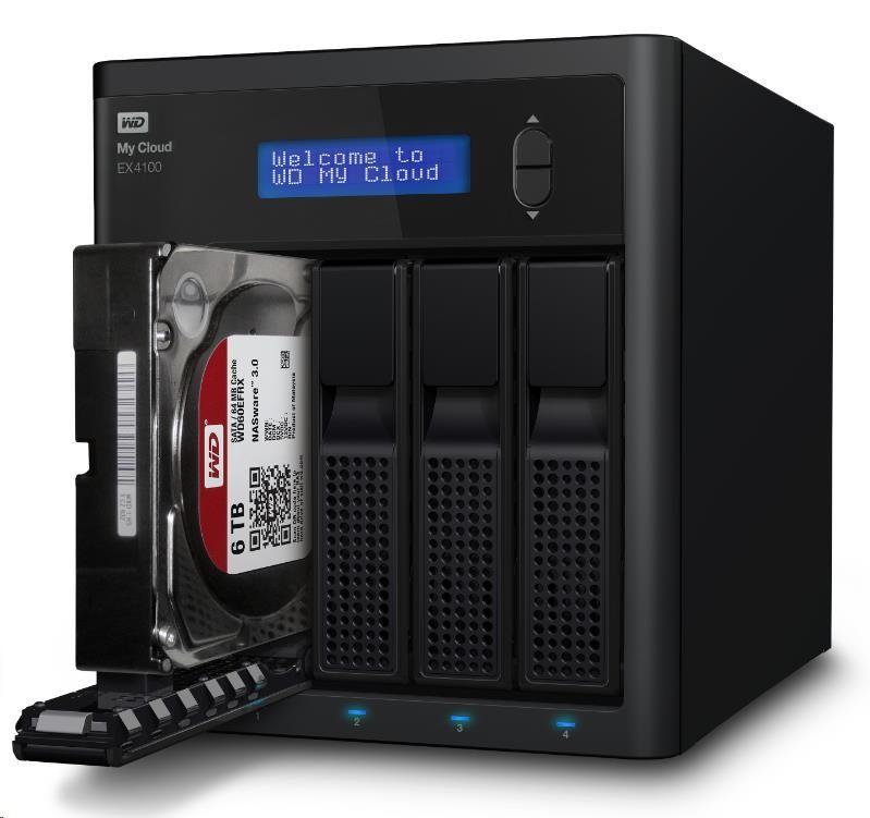 """WD My CLOUD EX 4100, 8 TB (4x2TB) 3,5"""", RJ45, NAS (WDBWZE0080KBK-EESN)"""