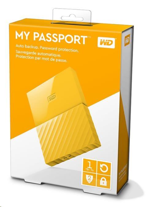 "WD My Passport 1TB Ext, 2,5"" USB3.0, YELLOW (WDBYNN0010BYL-WESN)"