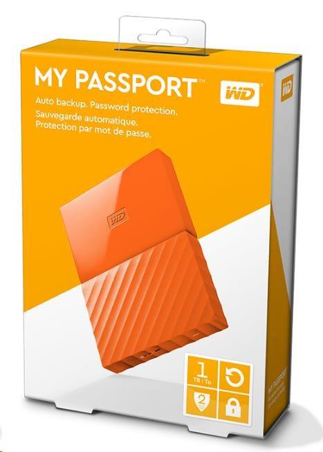 "WD My Passport 1TB Ext, 2,5"" USB3.0, ORANGE (WDBYNN0010BOR-WESN)"