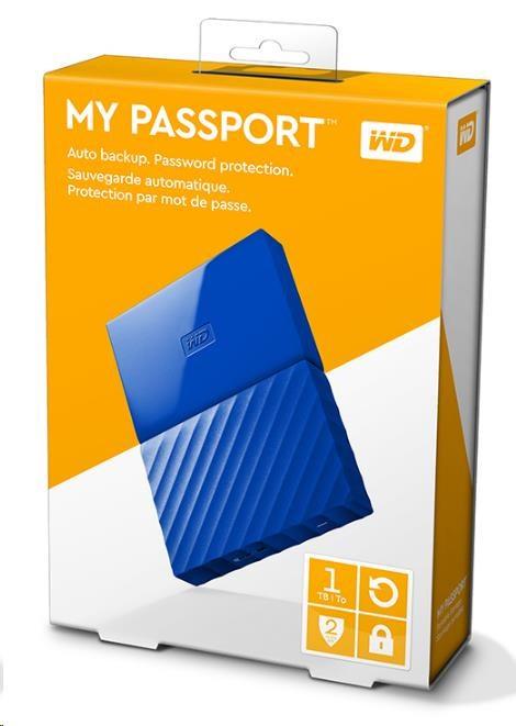 """WD My Passport 1TB Ext, 2,5"""" USB3.0, BLUE (WDBYNN0010BBL-WESN)"""
