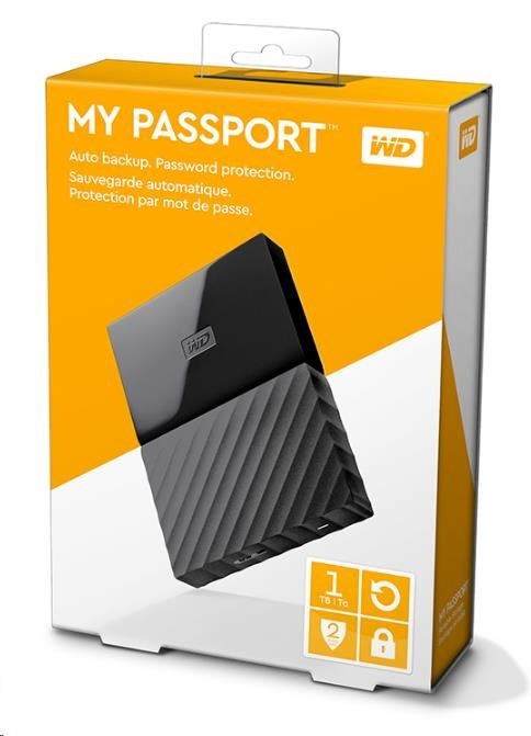 "WD My Passport 1TB Ext, 2,5"" USB3.0, BLACK (WDBYNN0010BBK-WESN)"