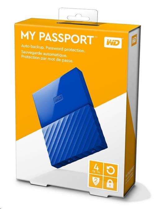 "WD My Passport 4TB Ext, 2,5"" USB3.0, BLUE (WDBYFT0040BBL-WESN)"