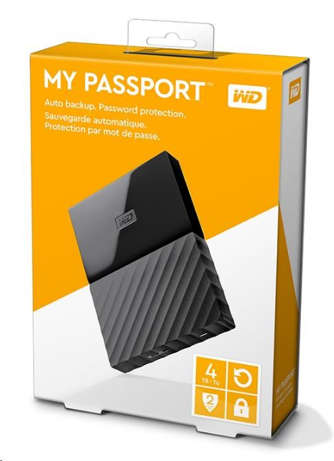 "WD My Passport 4TB Ext, 2,5"" USB3.0, BLACK (WDBYFT0040BBK-WESN)"