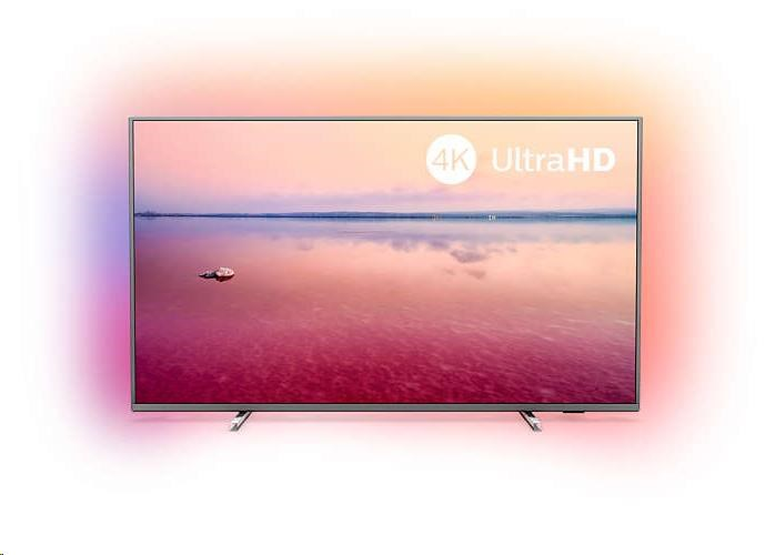 Philips 43PUS6754/12, stříbrná 43 4K UHD LED Ultra Slim SMART TV SAPHI , 3-sided Ambilight, Technologie HDR10+