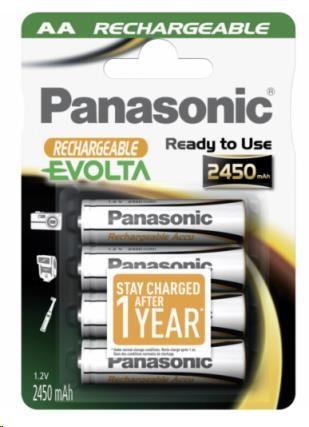 PANASONIC Nabíjecí baterie - EVOLTA HHR-3XXE/4BC 2450mAh AA 1,2V 4ks