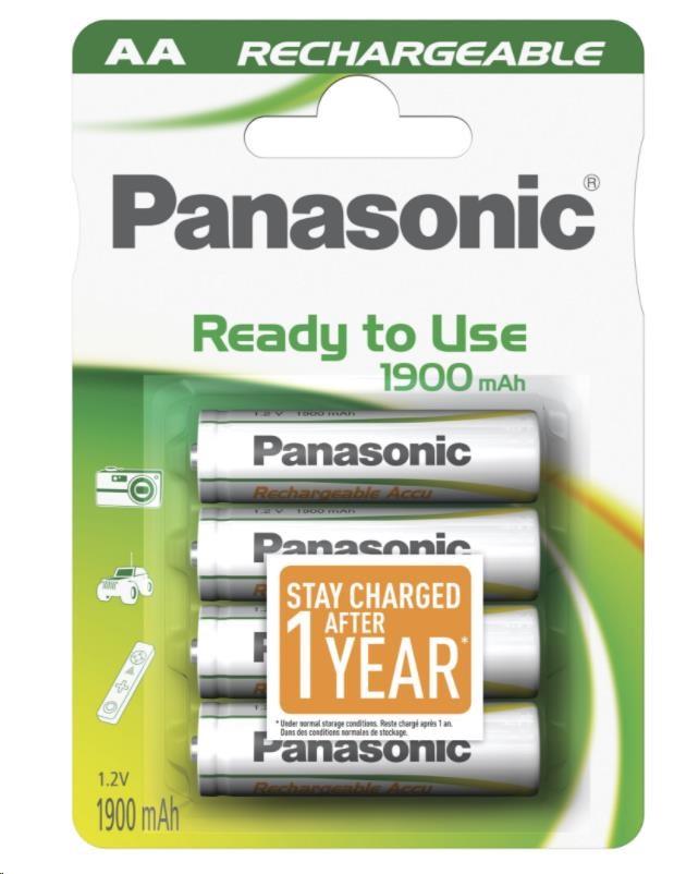 PANASONIC Ready to use - Nabíjecí baterie HHR-3MVE/4BC 1900mAh AA 1,2V 4ks (00337989)