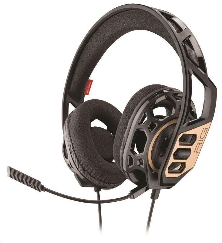 PLANTRONICS herní sluchátka s mikrofonem RIG 300 pro PC, černá