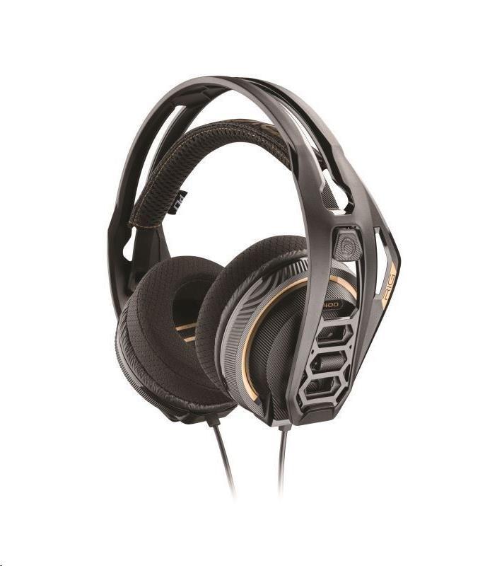 PLANTRONICS herní sluchátka s mikrofonem RIG 400 pro PC, černá