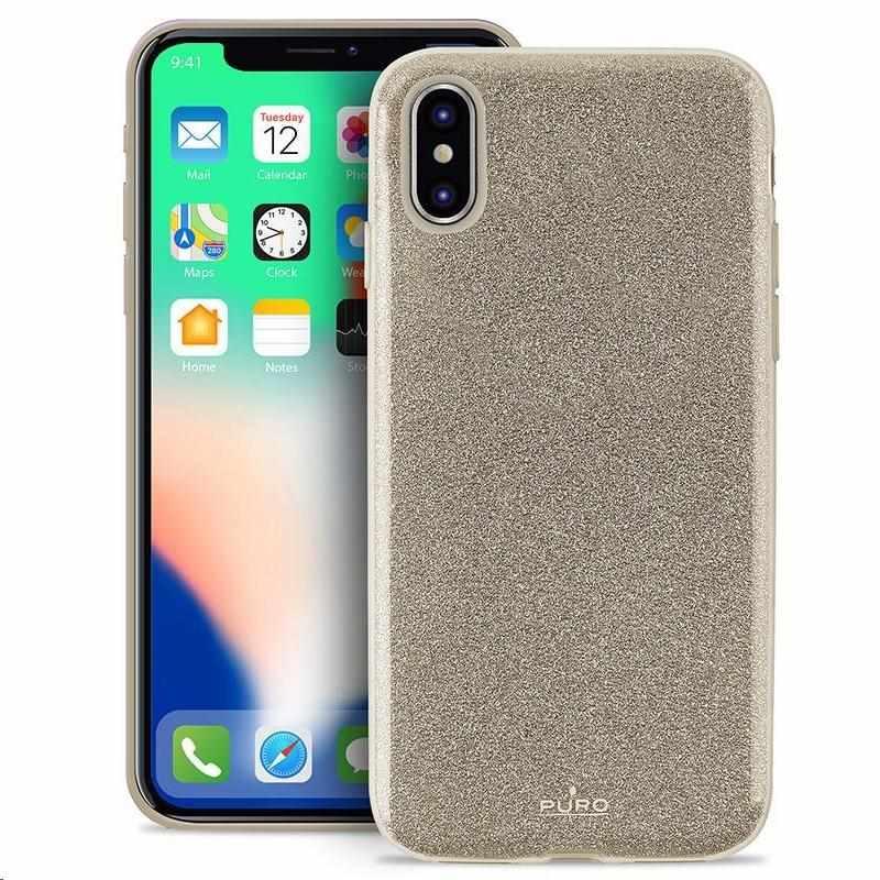 """Puro zadní kryt """"SHINE"""" pro Apple iPhone X, zlatá (IPCXSHINEGOLD)"""