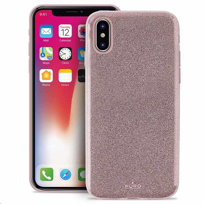 """Puro zadní kryt """"SHINE"""" pro Apple iPhone X, růžově zlatá (IPCXSHINERGOLD)"""