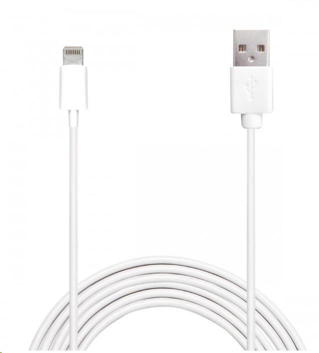 Puro datový kabel 1,5m, konektor Lightning, pro Apple iPhone/iPod/iPad, bílá