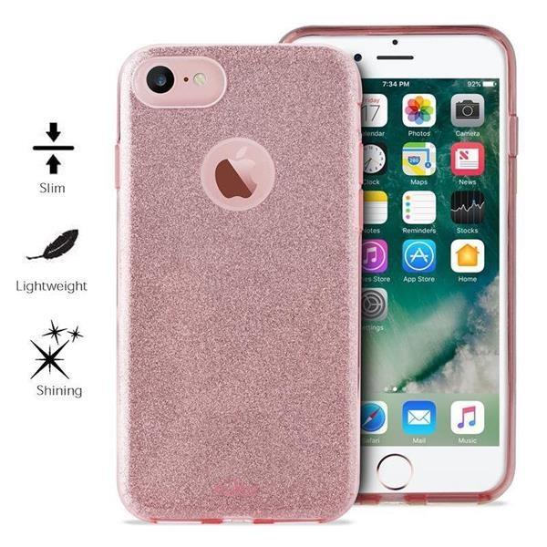 """Puro zadní kryt """"SHINE"""" pro Apple iPhone 6 / 6s / 7 / 8, růžové zlato (IPC747CSHINERGOLD)"""