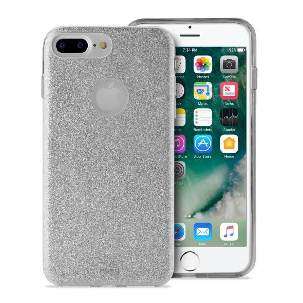 "Puro zadní kryt ""SHINE"" pro Apple iPhone 6 Plus / 6s Plus / 7 Plus / 8 Plus, stříbrná"