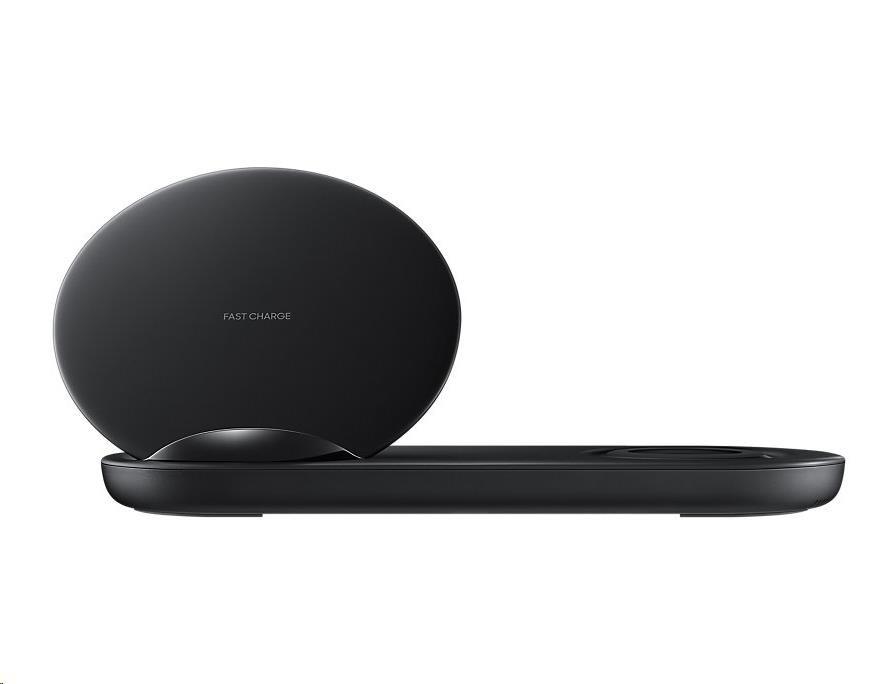 Samsung stojánek pro bezdrátové nabíjení DUO EP-N6100TBE, černá (EU Blister)