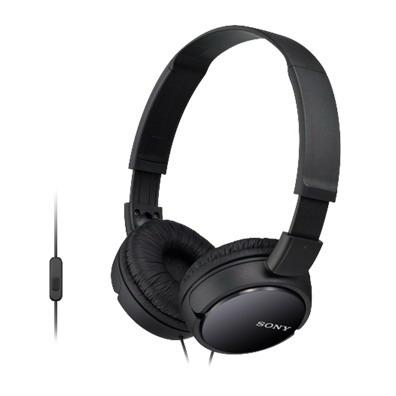 SONY stereo sluchátka MDR-ZX110AP, černá (MDRZX110APB.CE7)