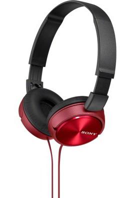 SONY stereo sluchátka MDR-ZX310, červená (MDRZX310R.AE)