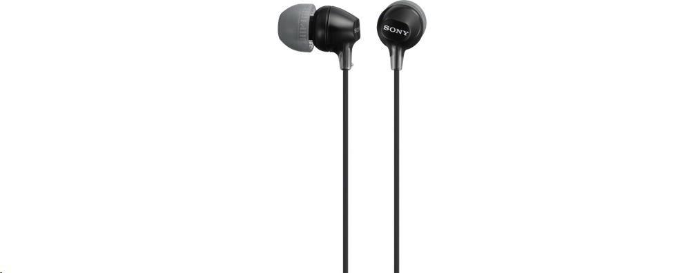 SONY stereo sluchátka MDR-EX15LP, černá (MDREX15LPB.AE)