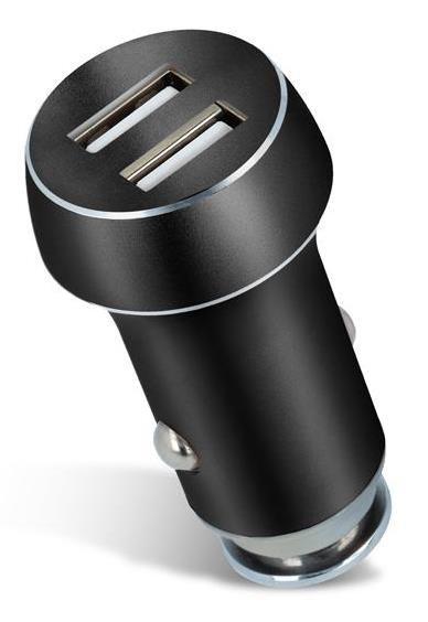 Forever nabíječka do auta, konektor 2x USB, černá