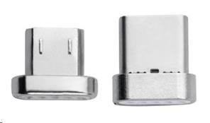 4smarts náhradní konektory pro magnetický kabel GRAVITYCord, microUSB a USB-C