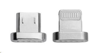 4smarts náhradní konektory pro magnetický kabel GRAVITYCord, microUSB a Lightning