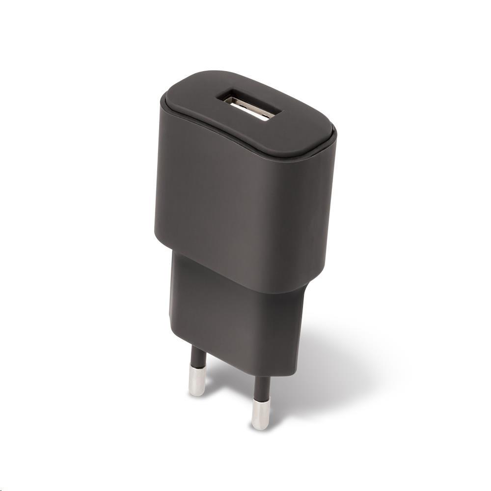 Forever síťová nabíječka TC-01, 1x USB, 2 A, micro USB kabel, černá