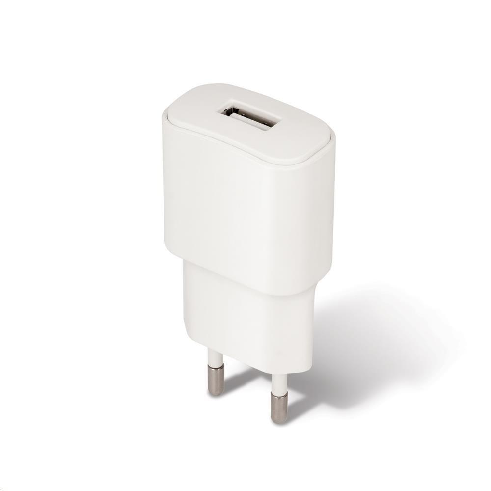 Forever síťová nabíječka TC-01, 1x USB, 2 A, micro USB kabel, bílá